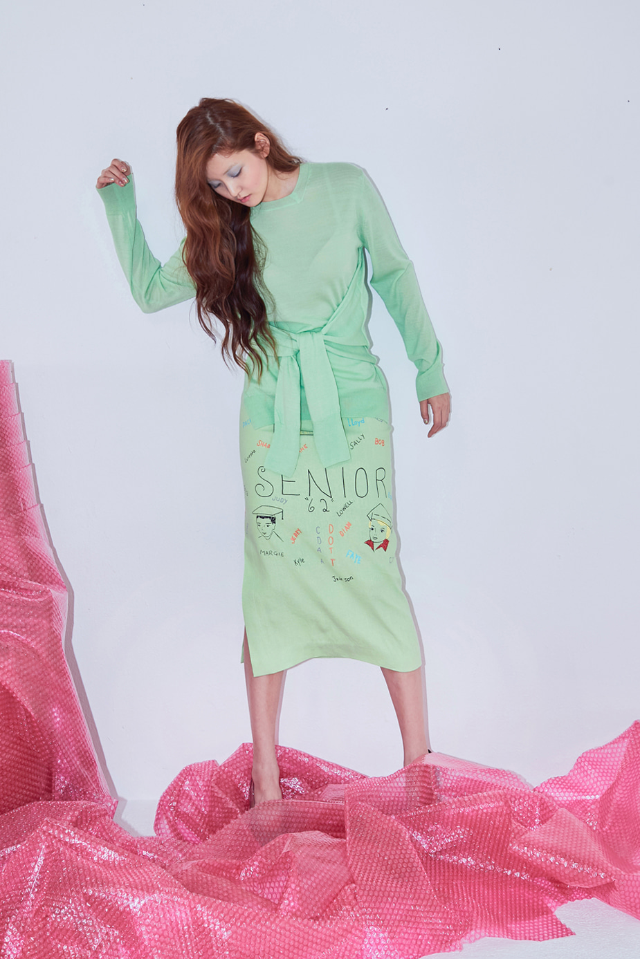 Denny Lettering Skirts(MINT)