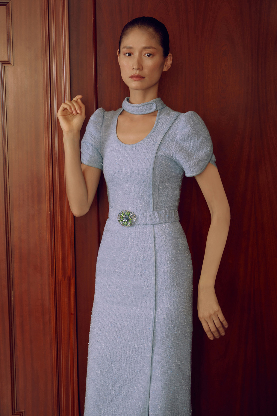 Oriental Slim Dress(SKY BLUE)