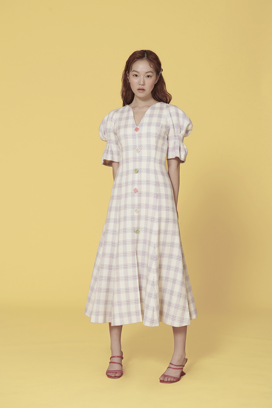 Puff Crepe Dress(WHITE)