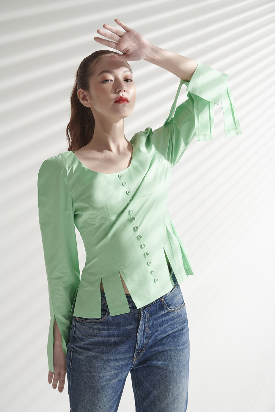 Button Blouse(MINT)